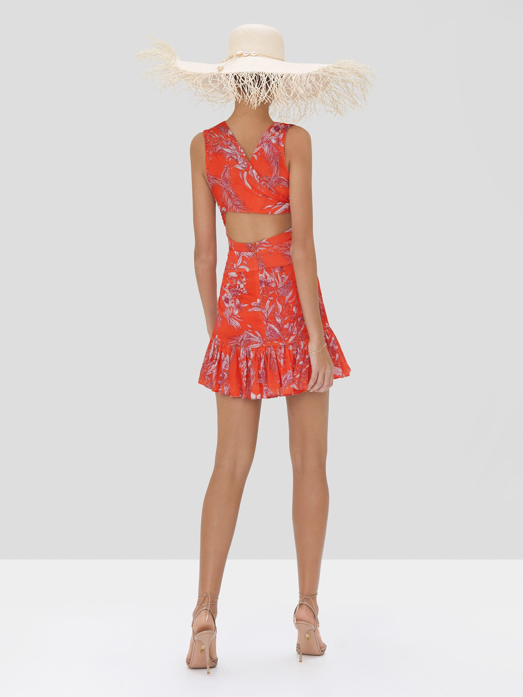 Alexis Cassara Dress in Mandarin Palm from Spring Summer 2020 Collection - Rear View
