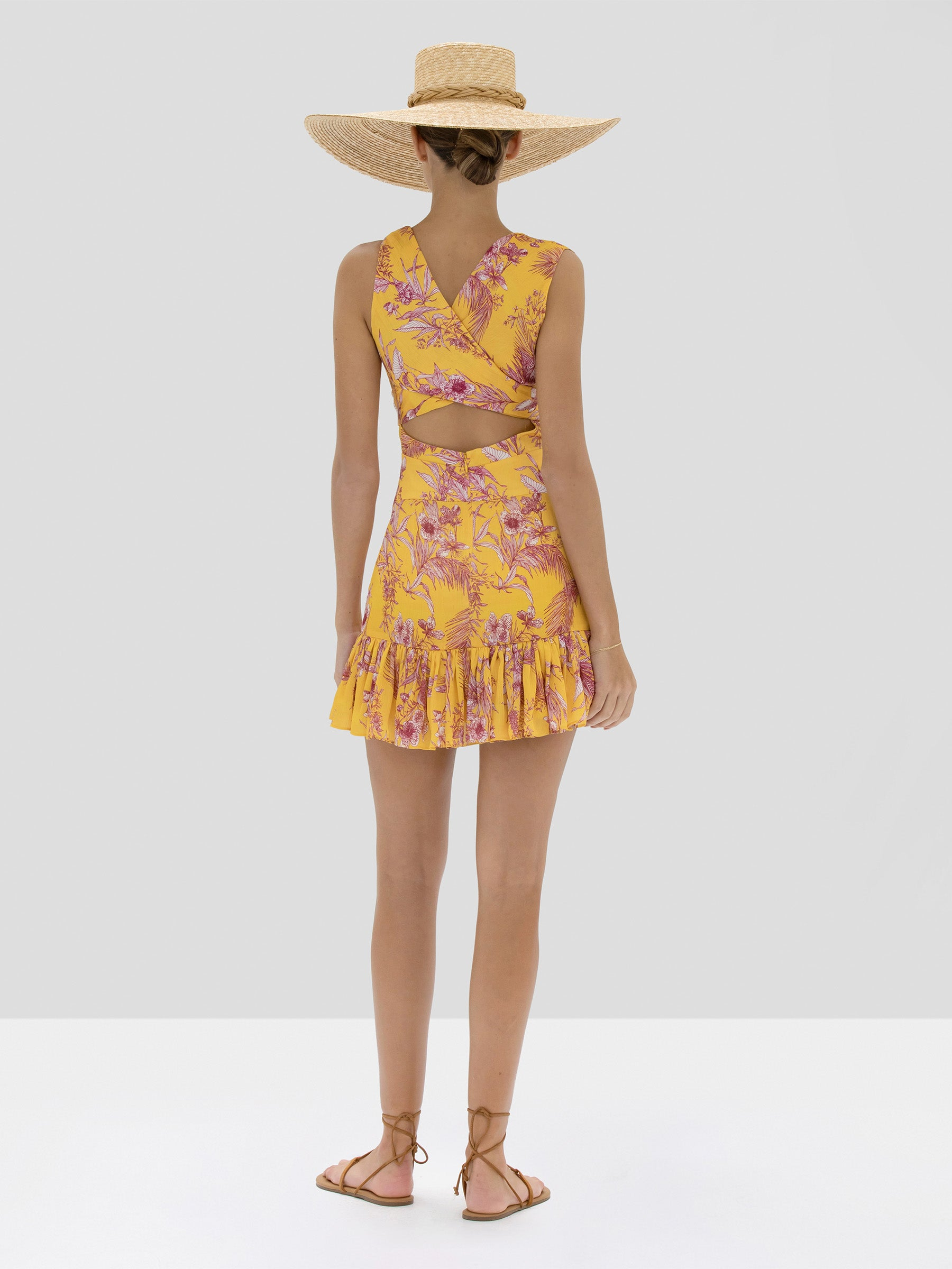 Alexis Cassara Dress in Tuscan Palm from Spring Summer 2020 Collection - Rear View