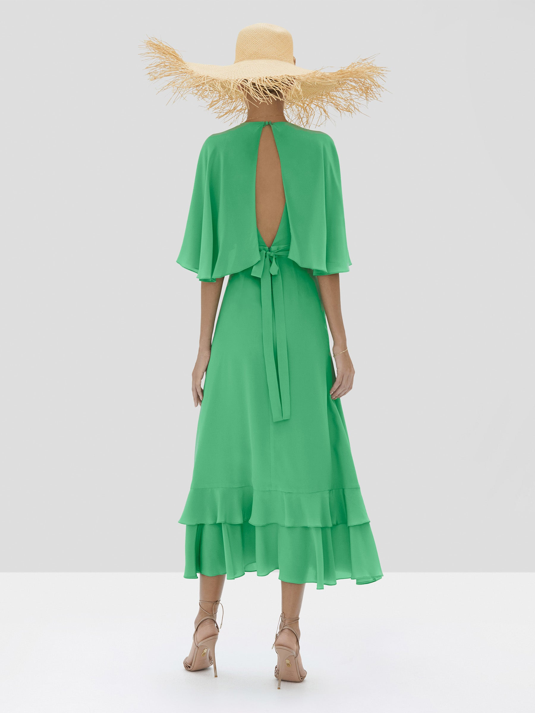 Alexis Cateline Dress in Kelly Green from Spring Summer 2020 Collection - Rear View