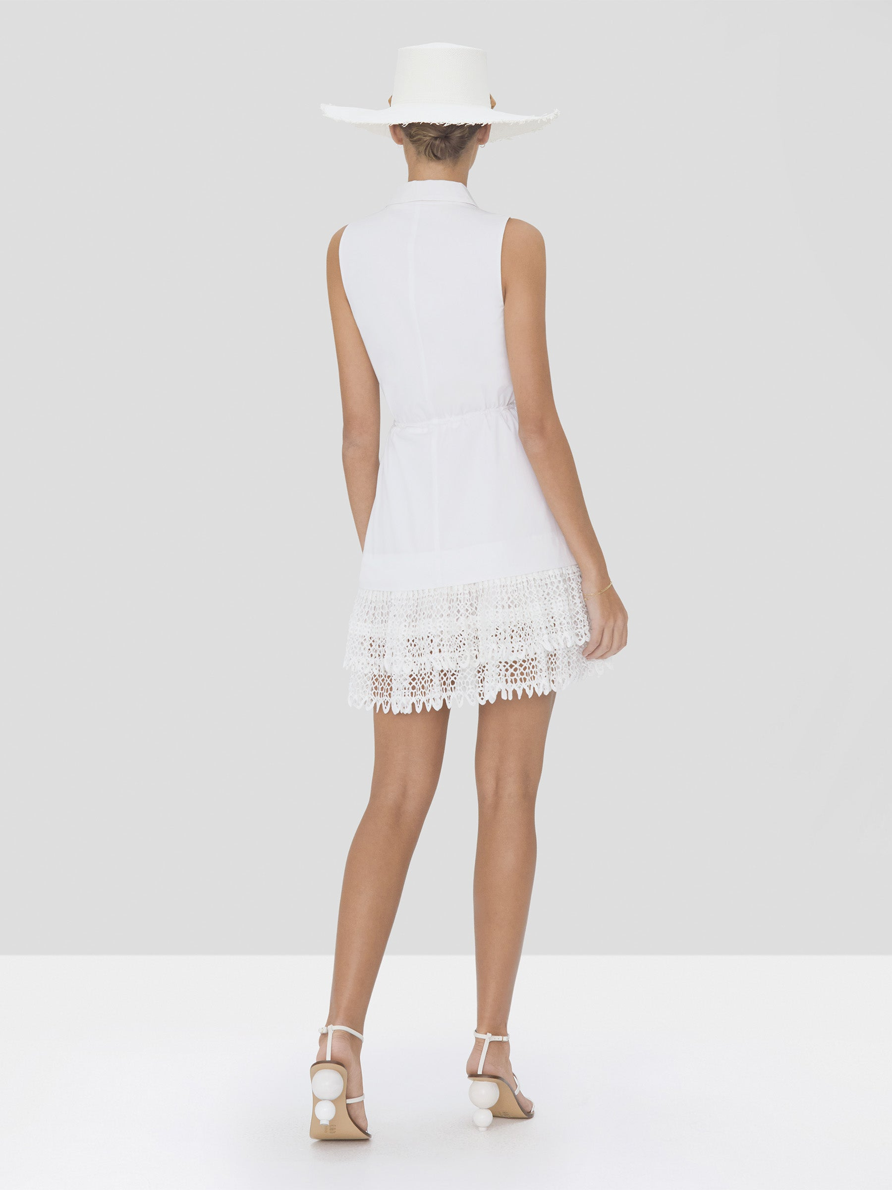 Alexis Clauden Dress in White from Spring Summer 2020 Collection - Rear View