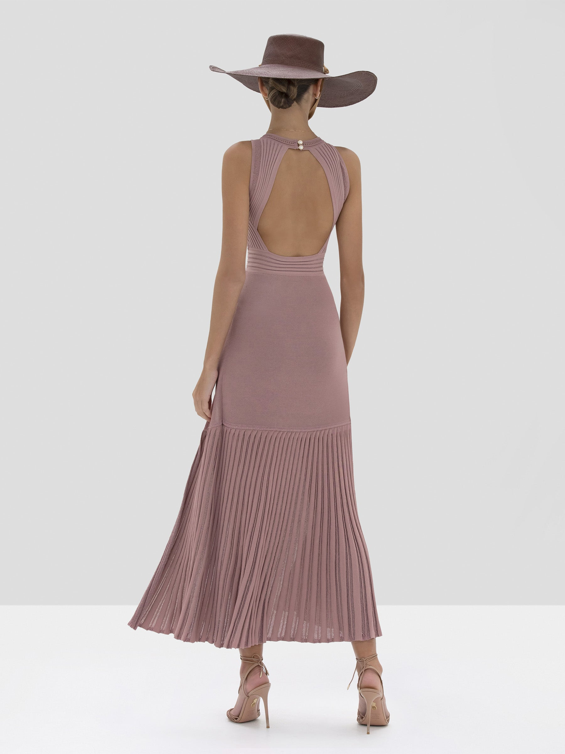 Alexis Gara Dress in Dusty Rose from Spring Summer 2020 - Rear View