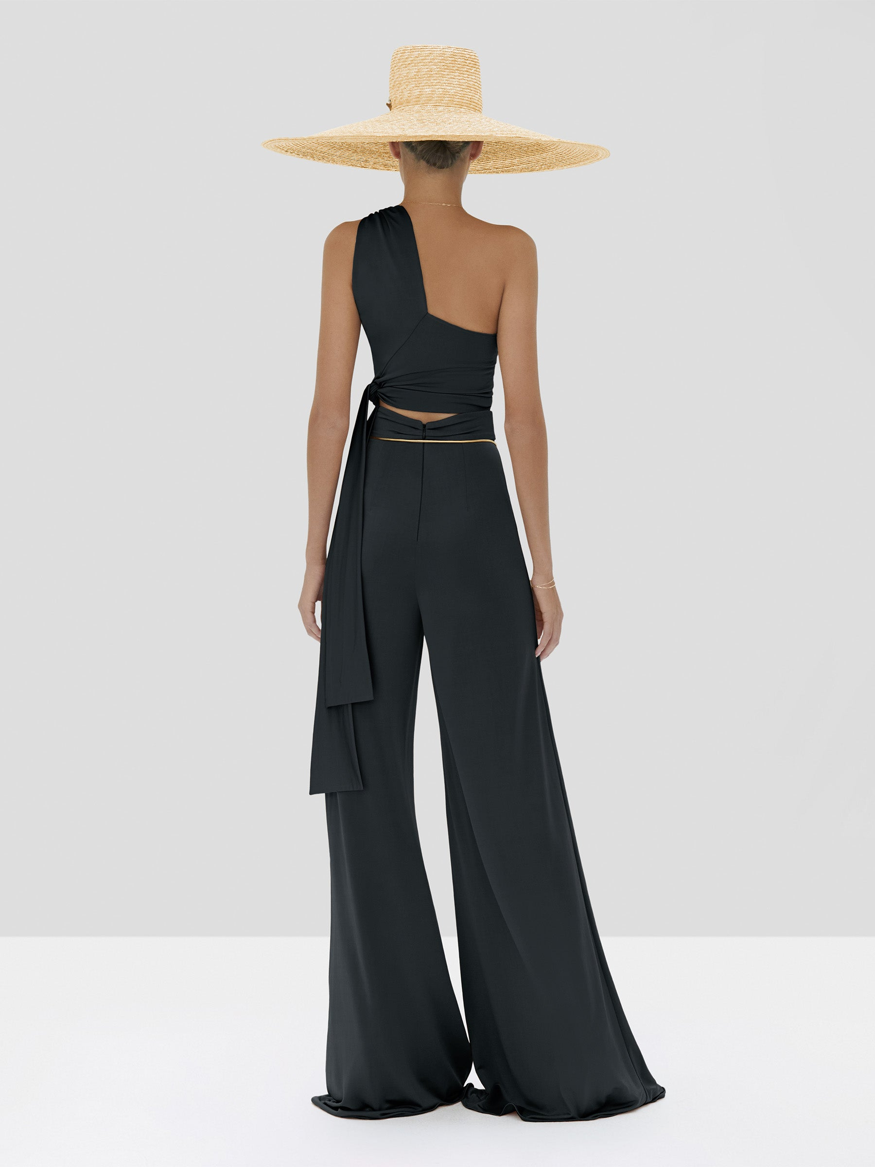Alexis Gwen Top and Camilo Pant in Black from the Spring Summer 2020 Collection - Rear View