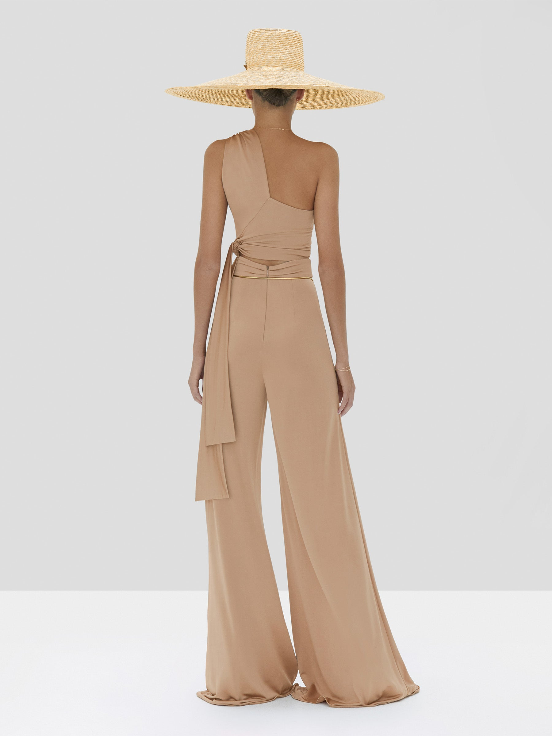 Alexis Camilo Pant and Gwen Top in Tan from the Spring Summer 2020 Collection - Rear View