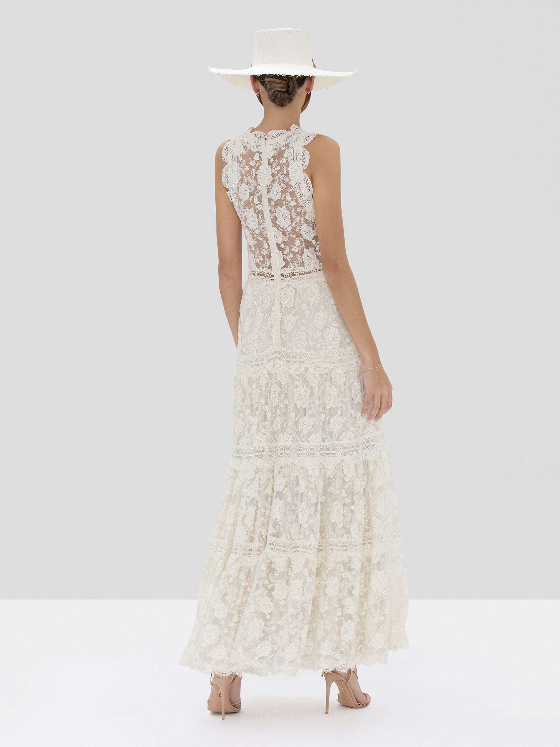 Alexis Havana Dress in Ivory from Spring Summer 2020 Collection - Rear View