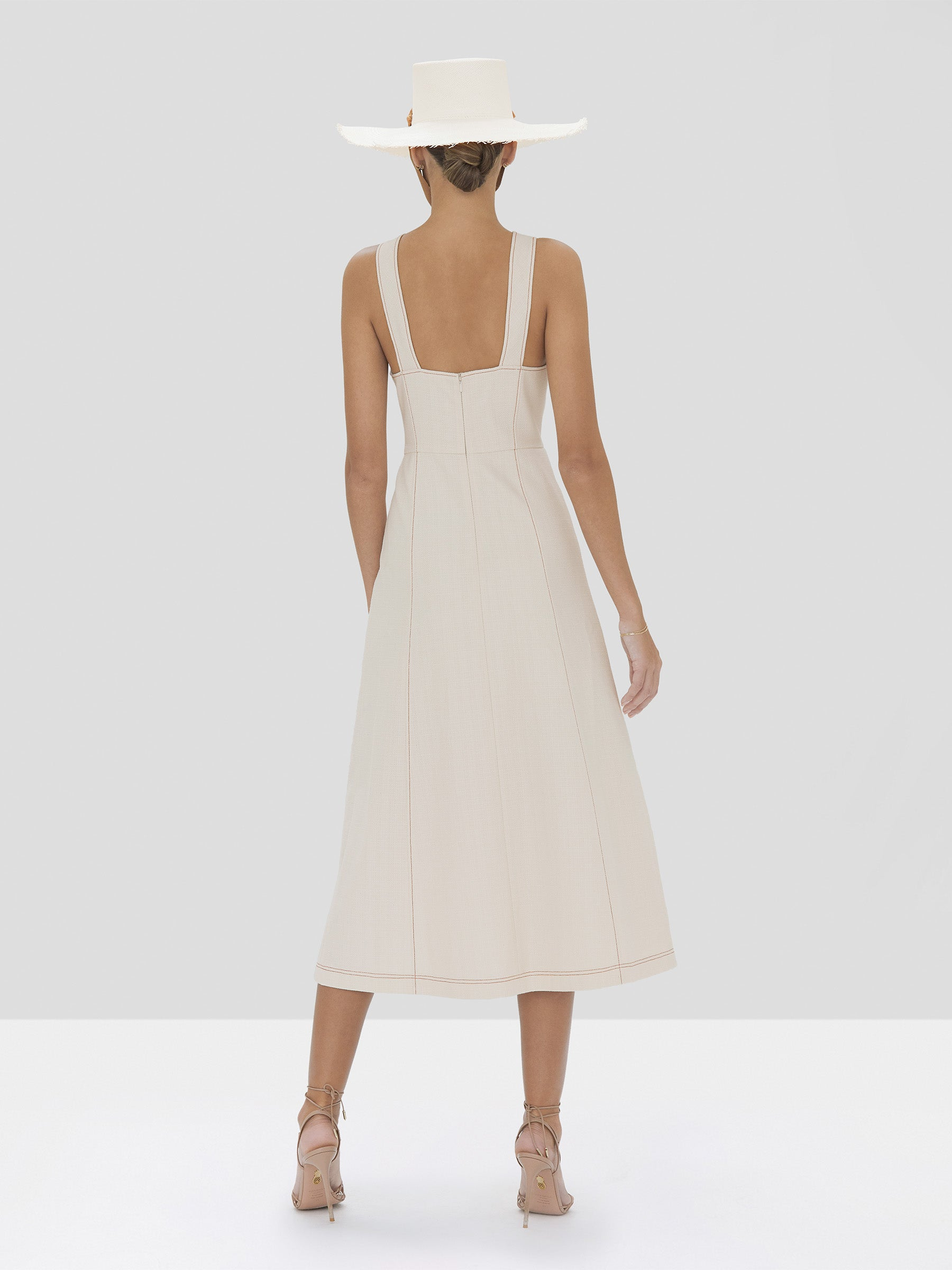 Alexis Ilan Dress in Ivory from Spring Summer 2020 Collection - Rear View