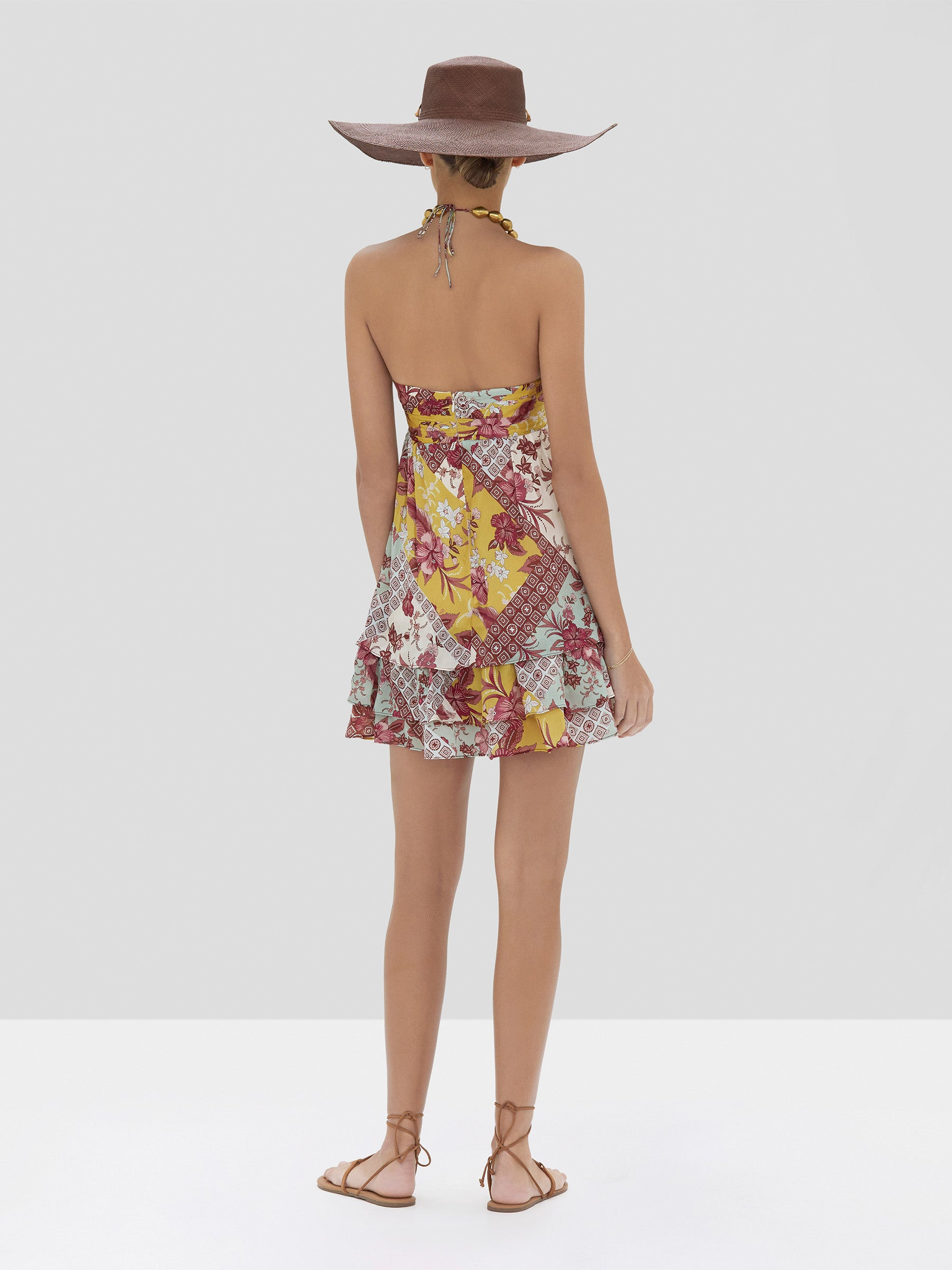 Alexis Irati Dress in Berry Foulard from the Spring Summer 2020 Collection - Rear View
