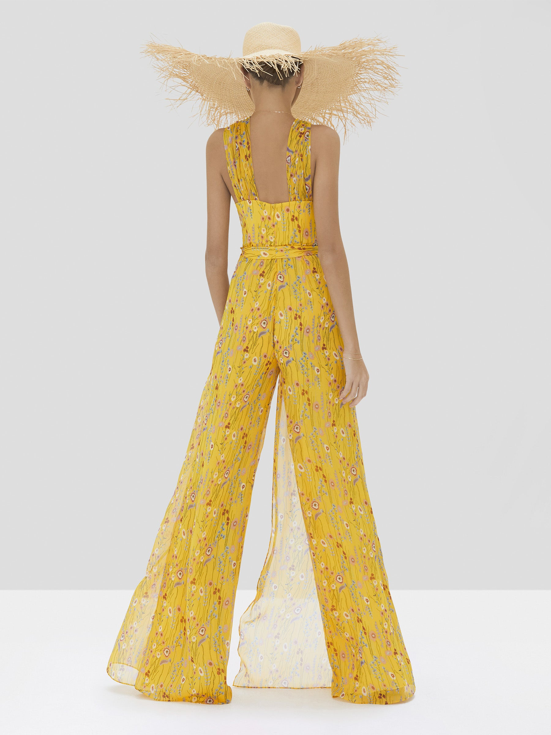 Alexis Janina Jumpsuit in Sunrise Bouquet from Spring Summer 2020 Collection - Rear View