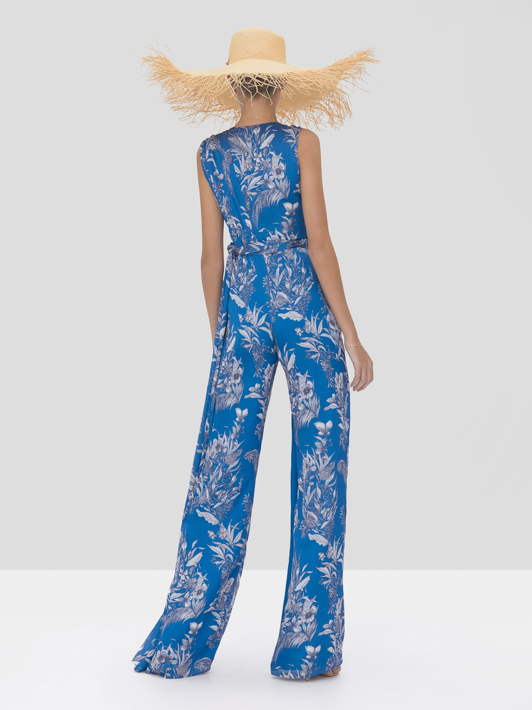 Alexis Kamiko Jumpsuit in Blue Palm from Spring Summer 2020 Collection - Rear View