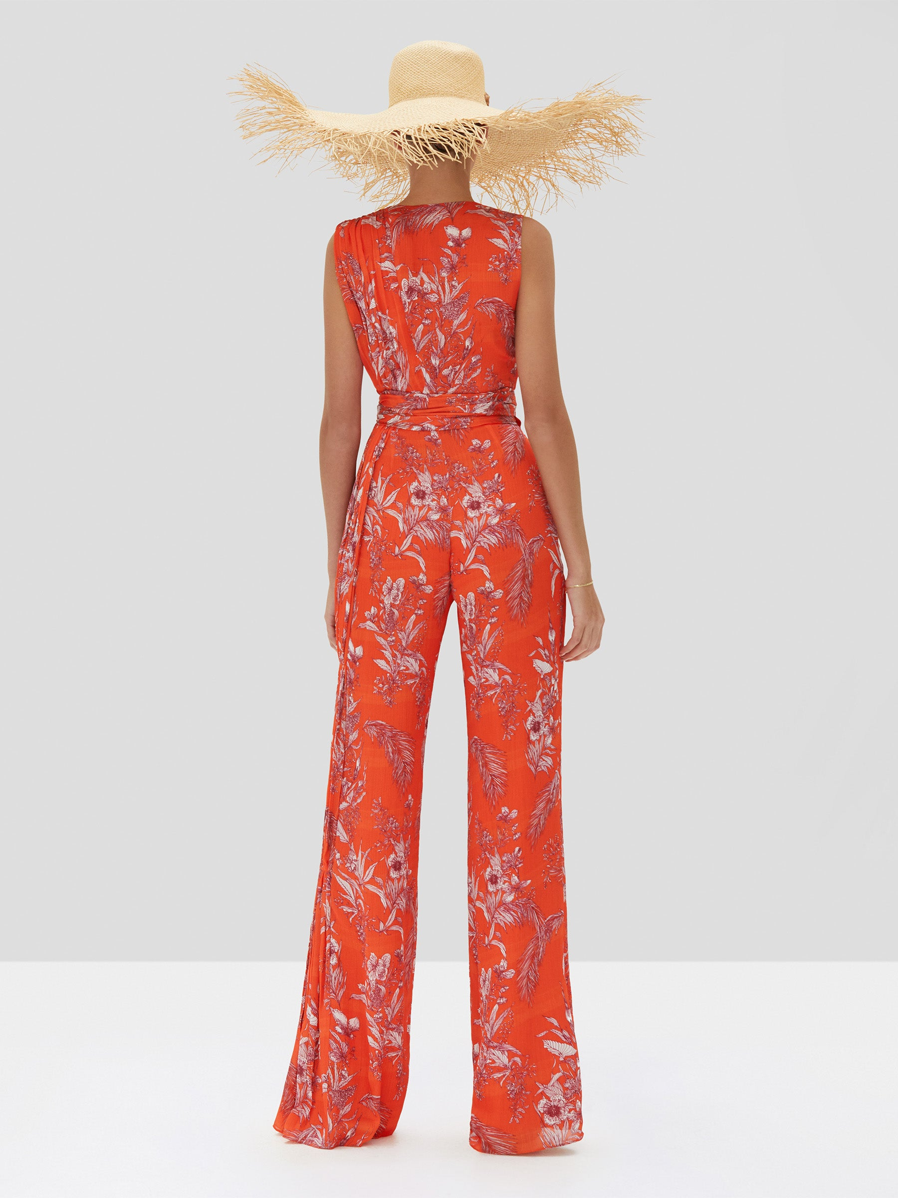 Alexis Kamiko Jumpsuit in Mandarin Palm from the Spring Summer 2020 Collection - Rear View
