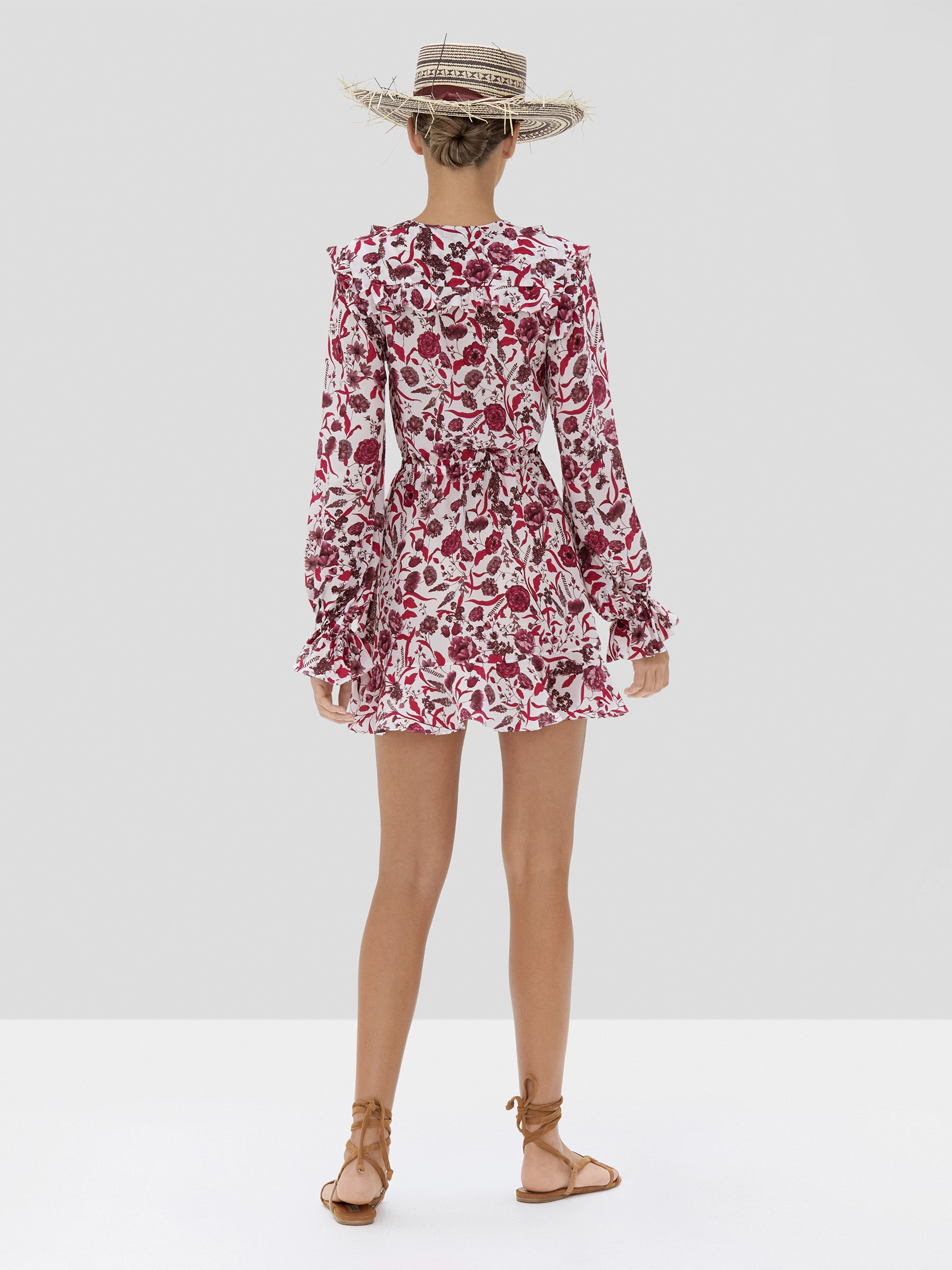 Alexis Kosma Dress in Berry Floral from Spring Summer 2020 - Rear View