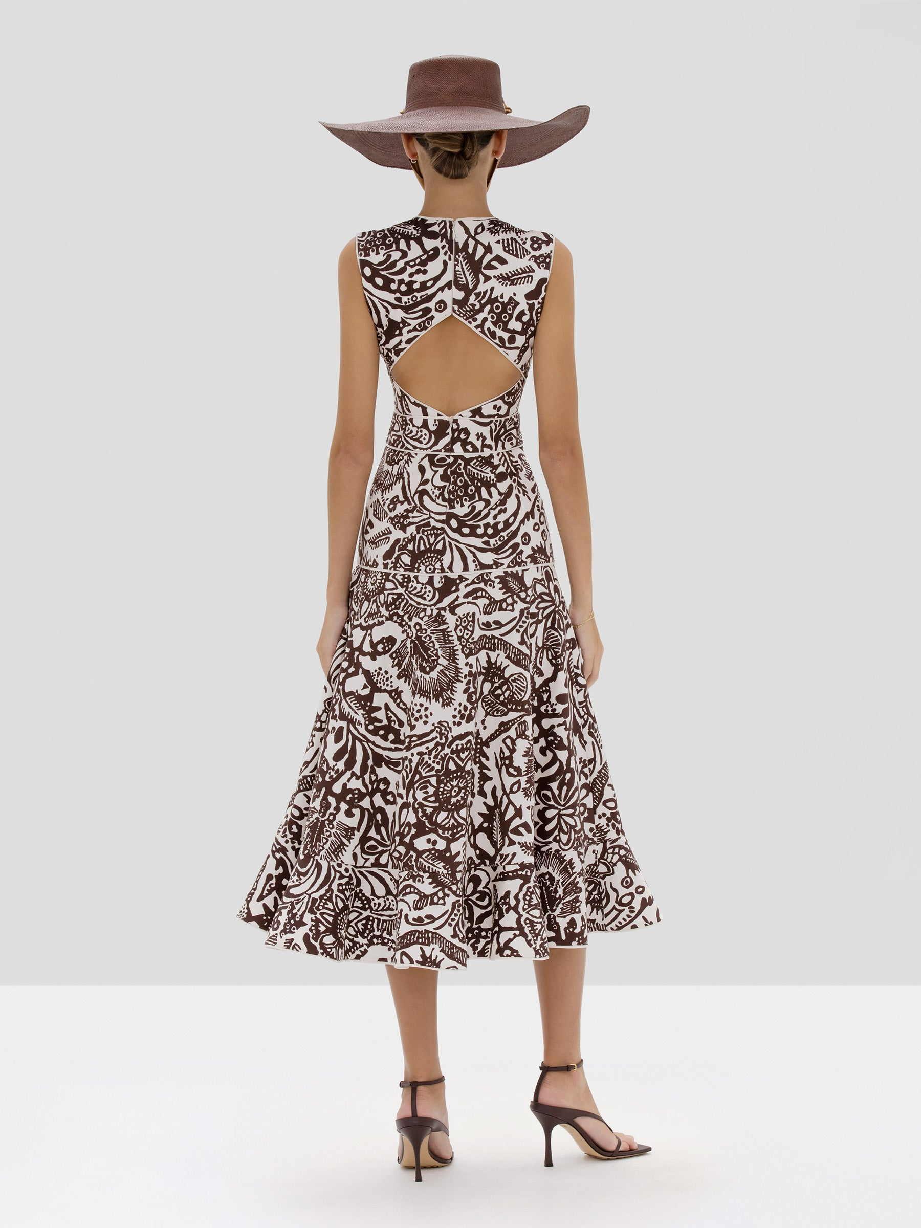 Alexis Marianna Dress in Tropical Brown from Spring Summer 2020 - Rear View