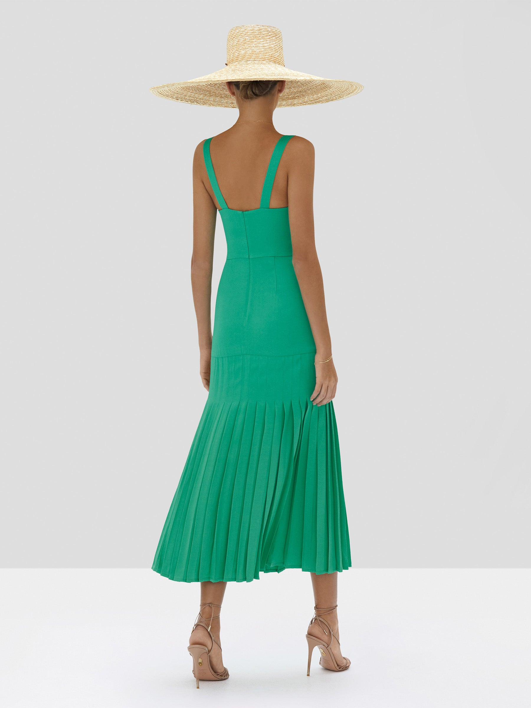 Alexis Oraina Dress in Emerald Green from Spring Summer 2020 Collection - Rear View