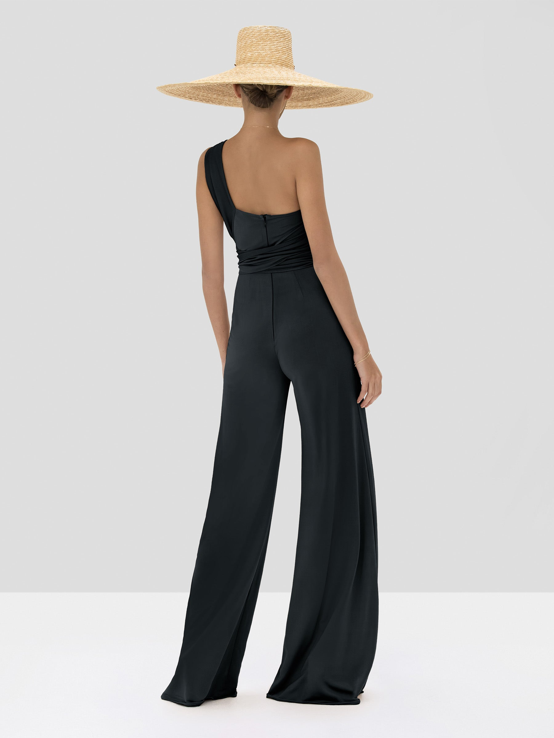 Alexis Parson Jumpsuit in Black from the Spring Summer 2020 Collection - Rear View