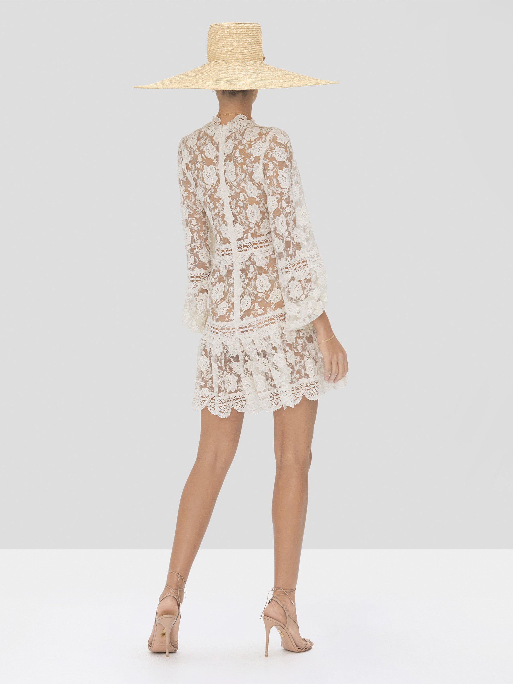 Alexis Preena Dress in White from Spring Summer 2020 Collection - Rear View