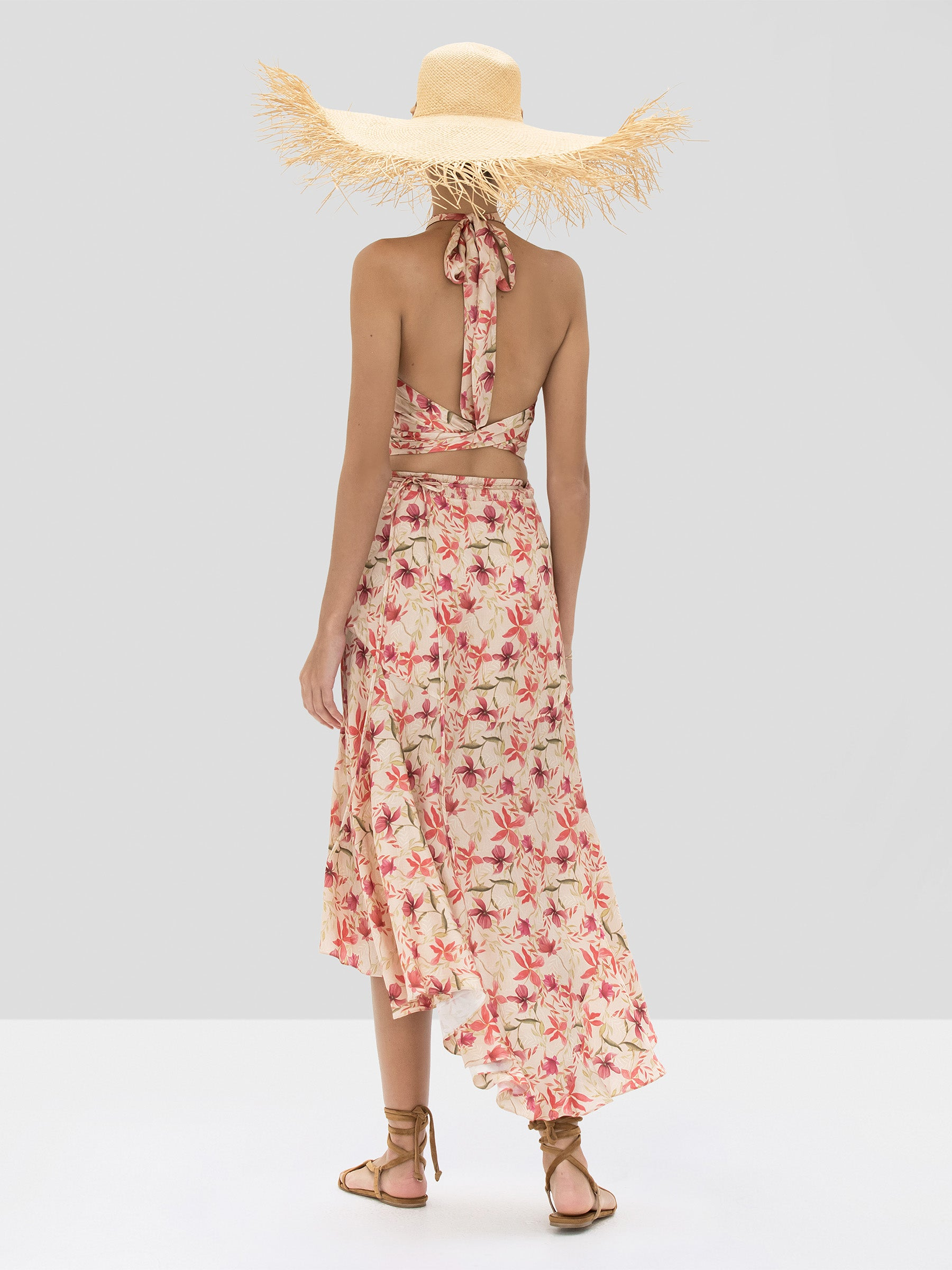 The Bazli Skirt in Wild Orchid Rose from the Spring Summer 2020 - Rear View