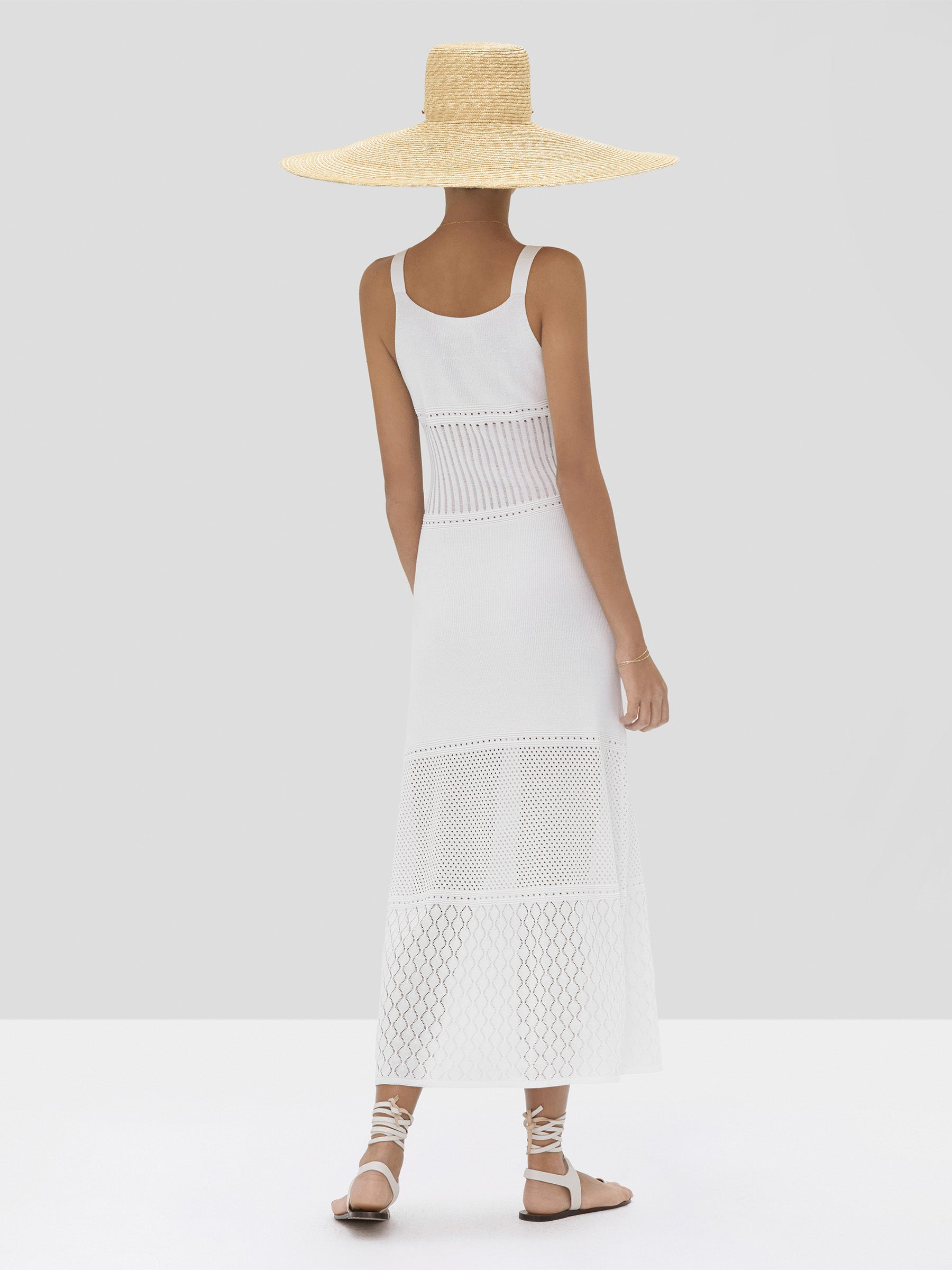 Alexis Rozanna Dress in White from Spring Summer 2020 - Rear View