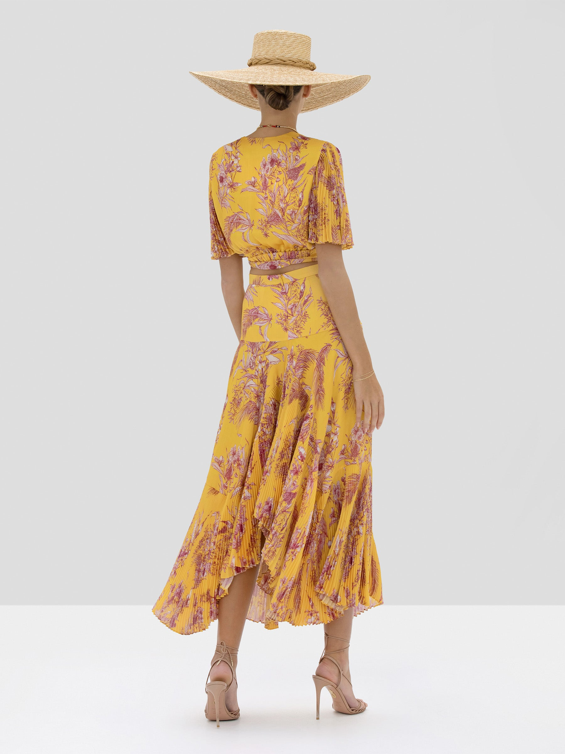 Alexis Rylie Top and Tarou Skirt in Tuscan Palm from Spring Summer 2020 Collection - Rear View