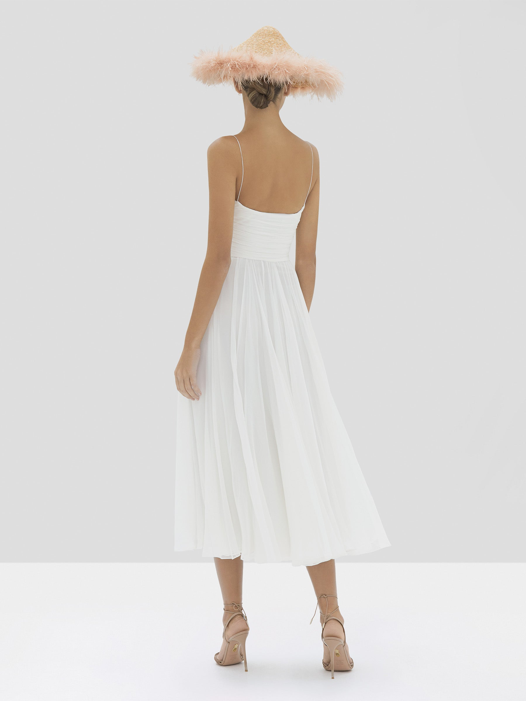 Alexis Sarrana Dress in White from Spring Summer 2020 Collection - Rear View