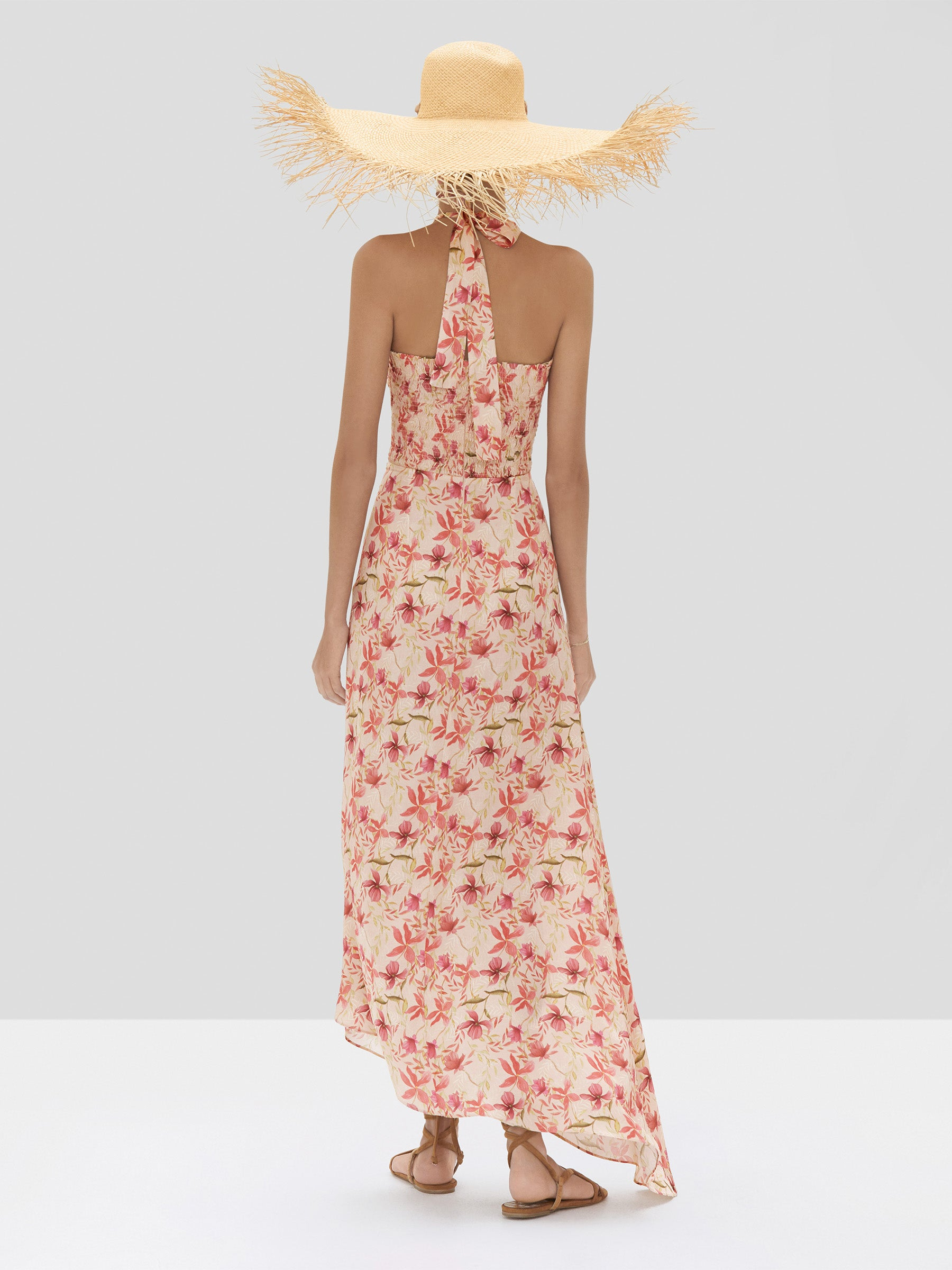Alexis Tahanie Dress in Wild Orchid Rose from the Spring Summer 2020 Ready To Wear Collection - Rear View