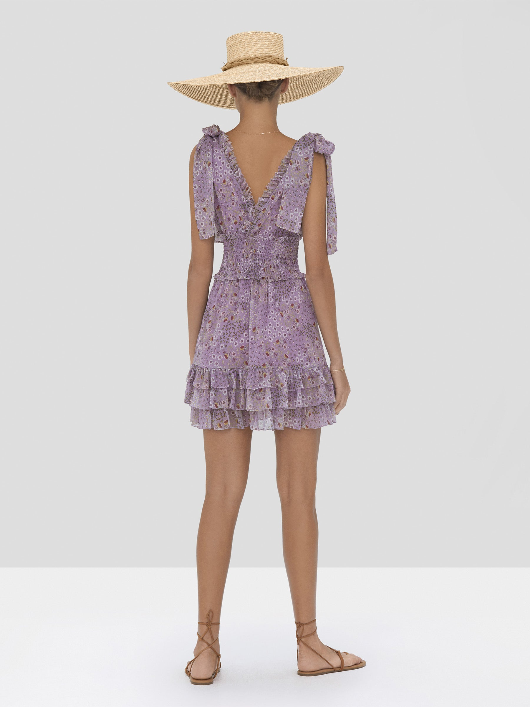 The Tandie Dress in Purple Bouquet from the Spring Summer 2020 - Rear View