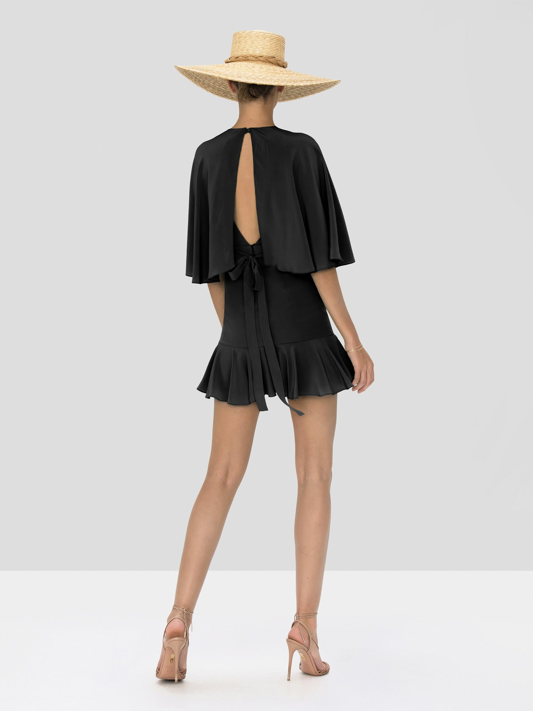 Alexis Tensia Dress in Black from Spring Summer 2020 Collection - Rear View