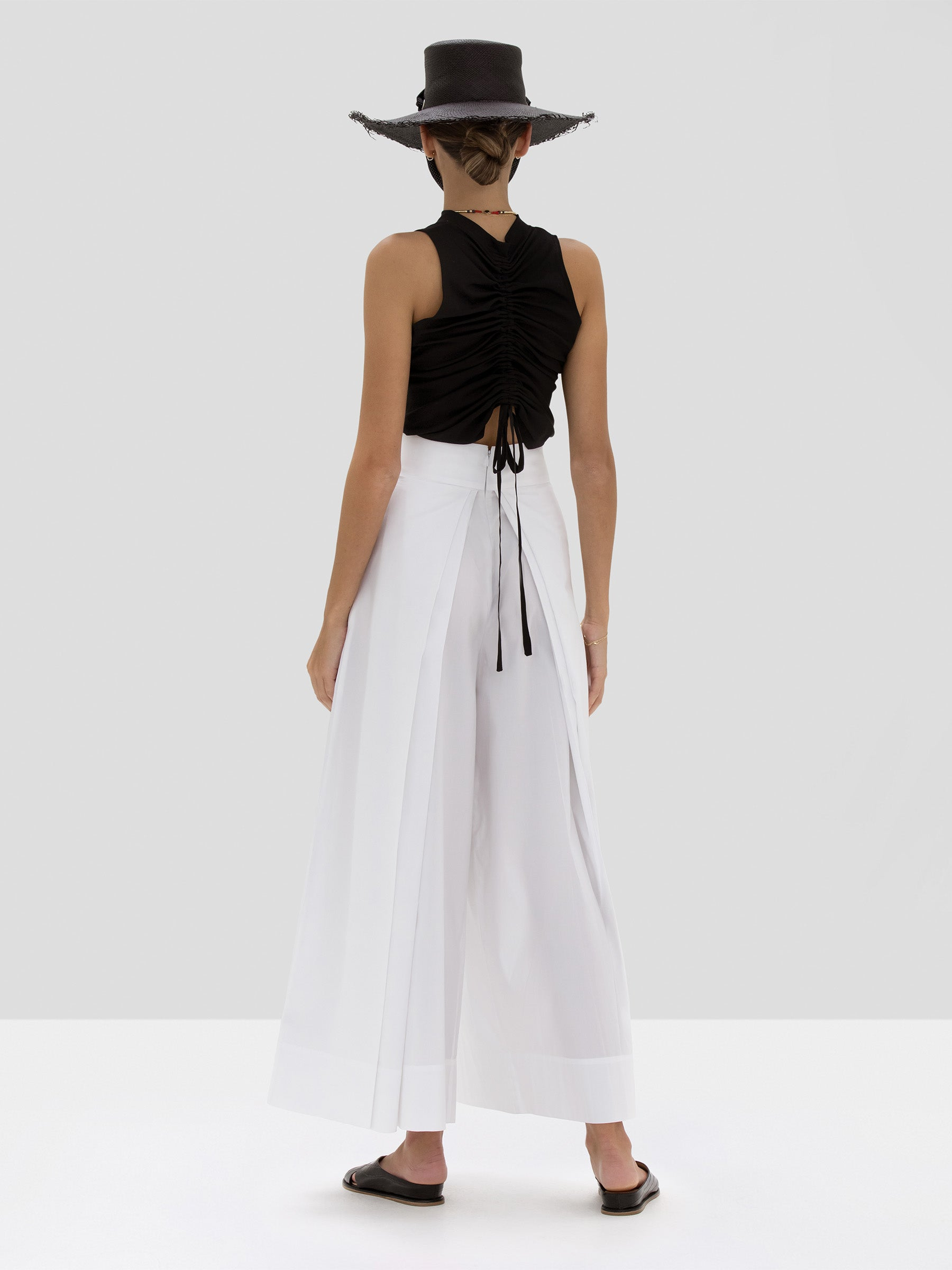 Alexis Teo Top in Black from the Spring Summer 2020 Collection - Rear View