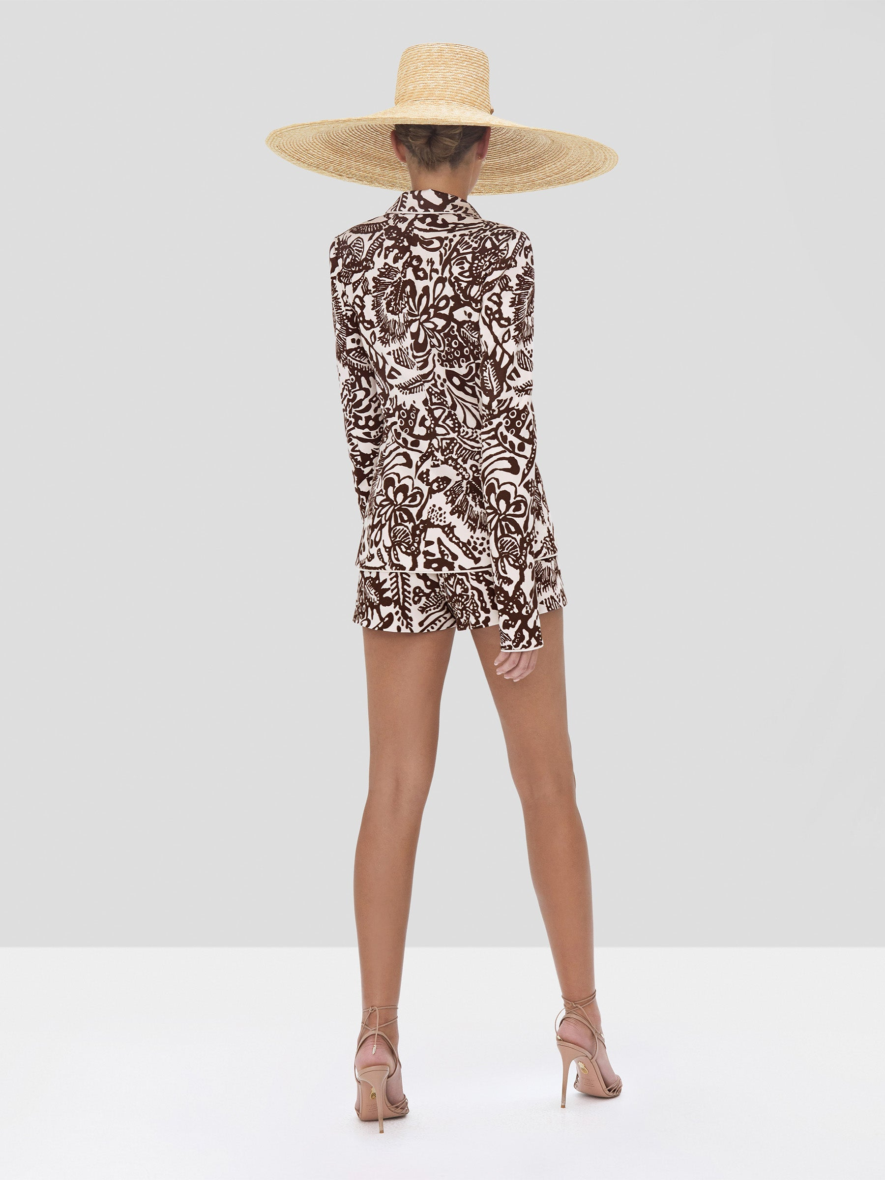 Alexis Tika Jacket and Lew Short in Tropical Brown from Spring Summer 2020 Collection - Rear View