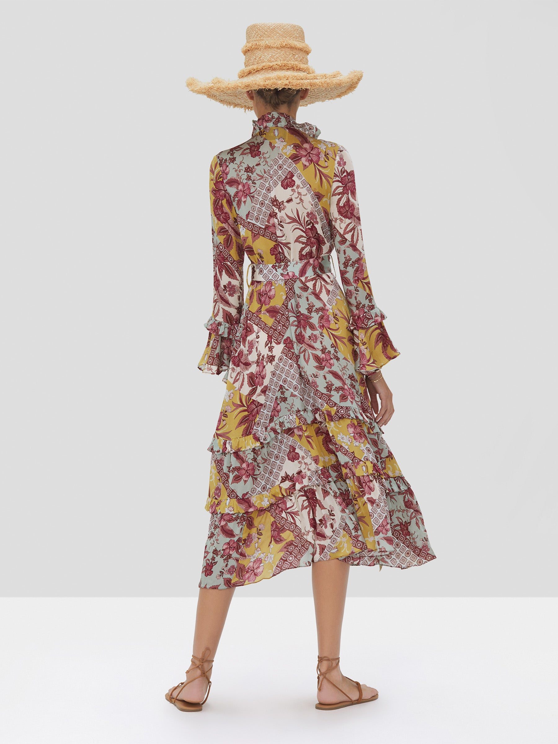 Alexis Wiera Dress in Berry Foulard from the Spring Summer 2020 Collection - Rear View