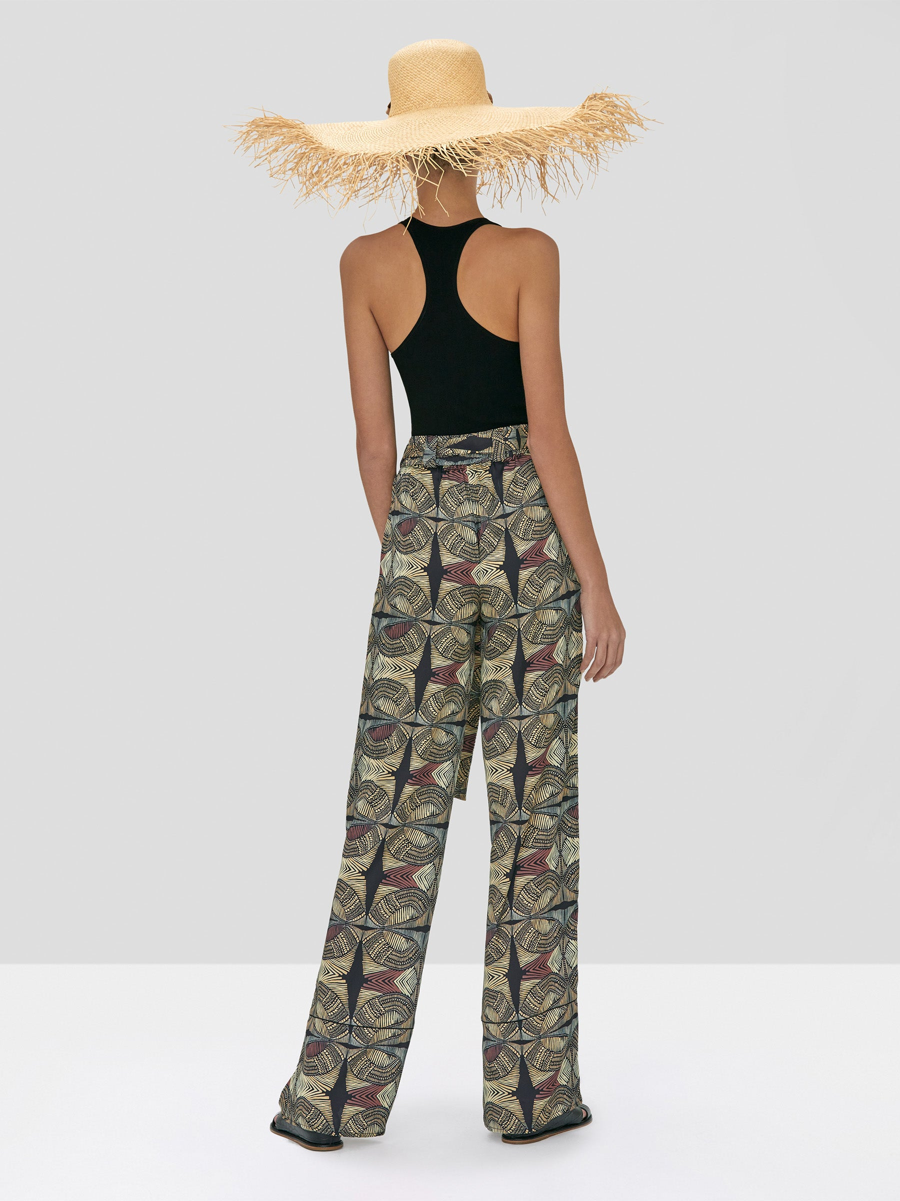 Alexis Zeni Top Black and Amptin Pant in Safari from Spring Summer 2020 Collection - Rear View