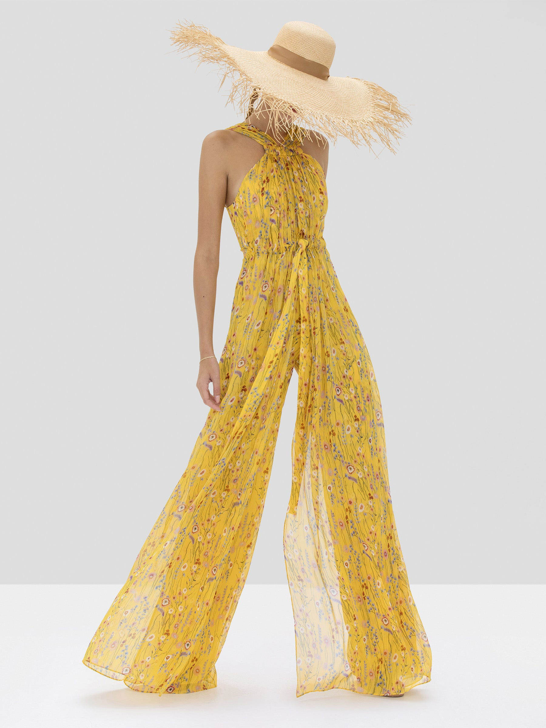 Alexis Janina Jumpsuit in Red Bouquet from Spring Summer 2020 Collection - Rear View