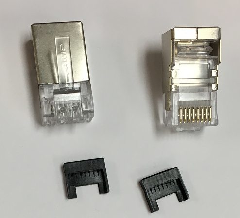Shielded RJ45 Connector Pair