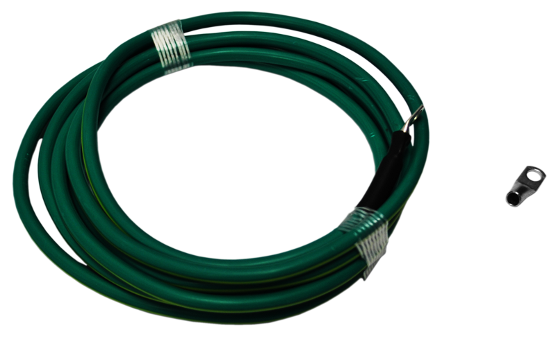 6 AWG, Yellow/Green Ground Cable