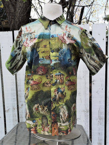 short sleeve Hieronymus Bosch shirt with back border trim