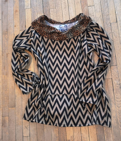 rolled neck pullover