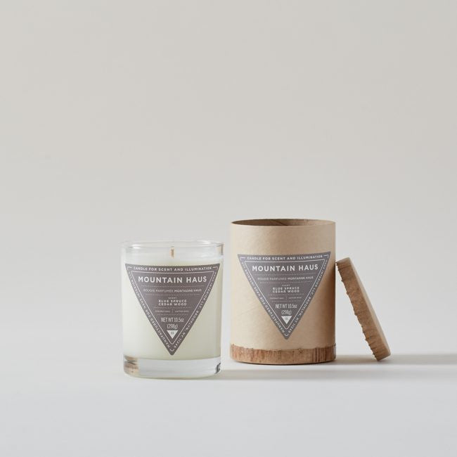 Haus Interior Mountain Haus: Blue Spruce + Cedarwood Scented Candle