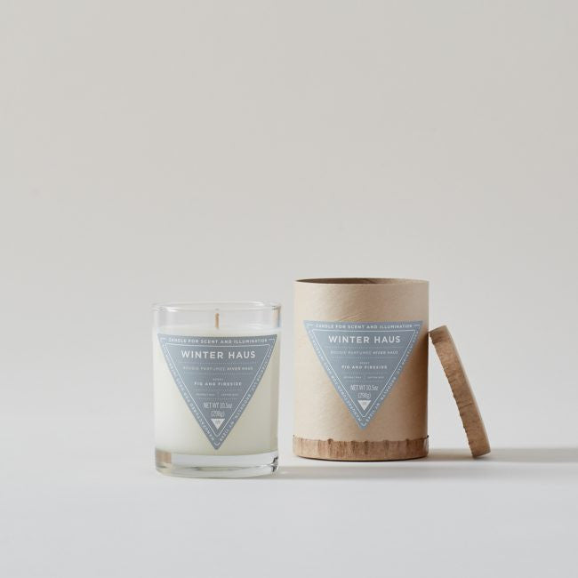 Haus Interior Winter Haus: Fig + Fireside Scented Candle
