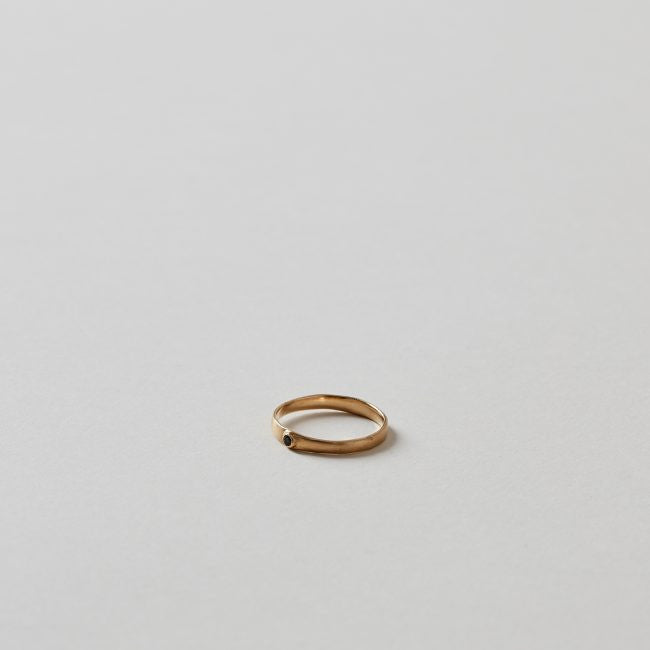 Polly Wales Narrow Pinched Band Ring