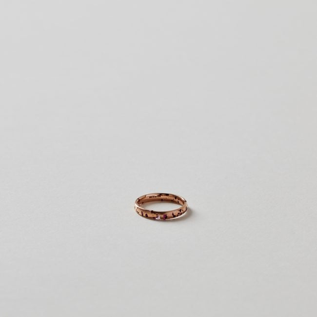 Polly Wales Slim Crystal Ring