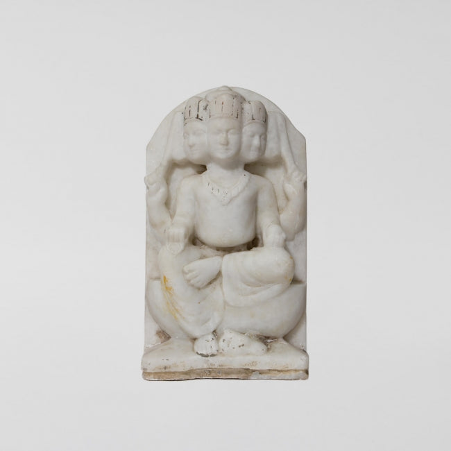 Extra Large 19th Century Antique Marble Kartikeya Relief Statue