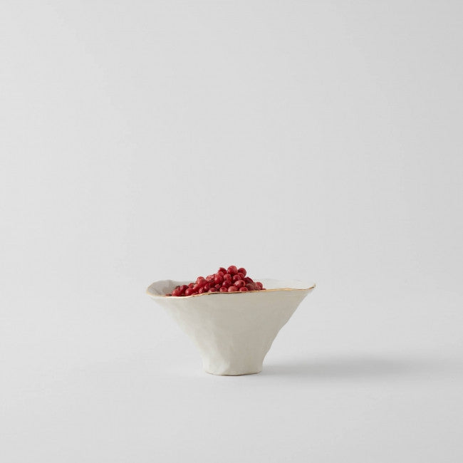 Isabel Halley Ceramics Handmade Porcelain Pinch Pot: Clear Glaze