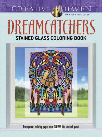 Creative Haven Dreamcatchers Stained Glass Coloring Book