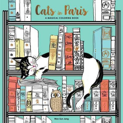 Cats in Paris : A Magical Coloring Book