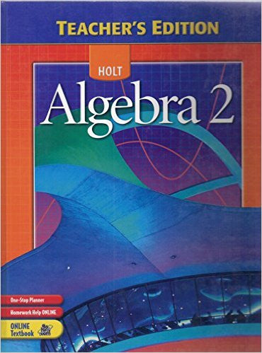 Algebra 2 - Annotated Teacher's Edition