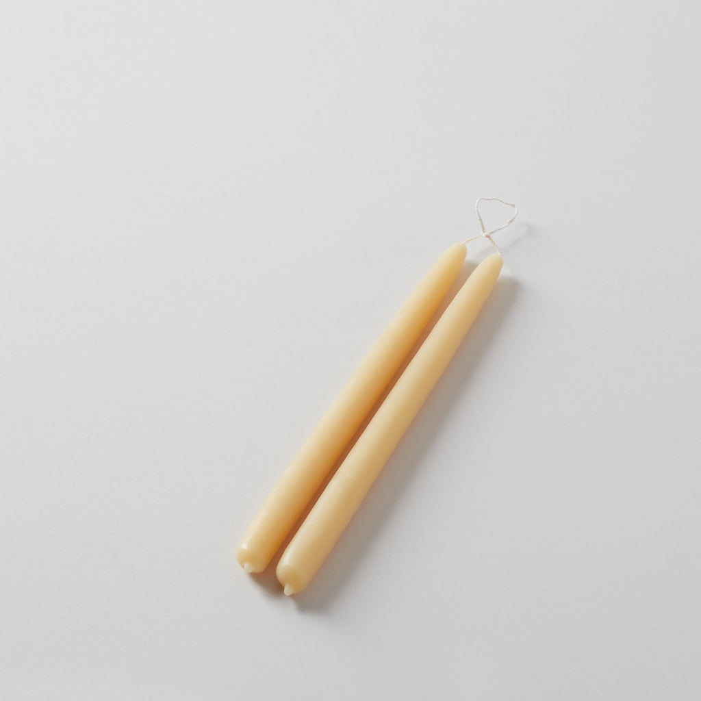 "12"" Pure Beeswax Taper Candles (Pair)"