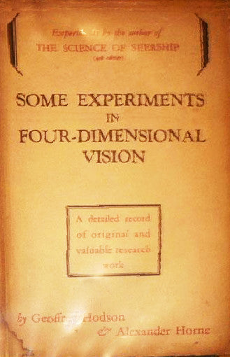 Some Experiments in Four Dimensional Vision 1933