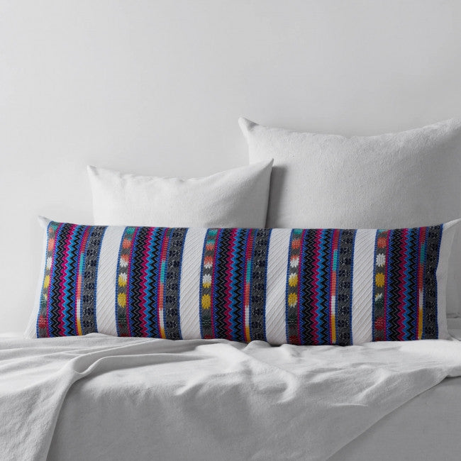 Embroidered Long Bed Pillow