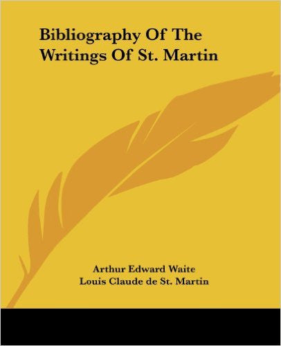 Bibliography of the Writings of St. Martin