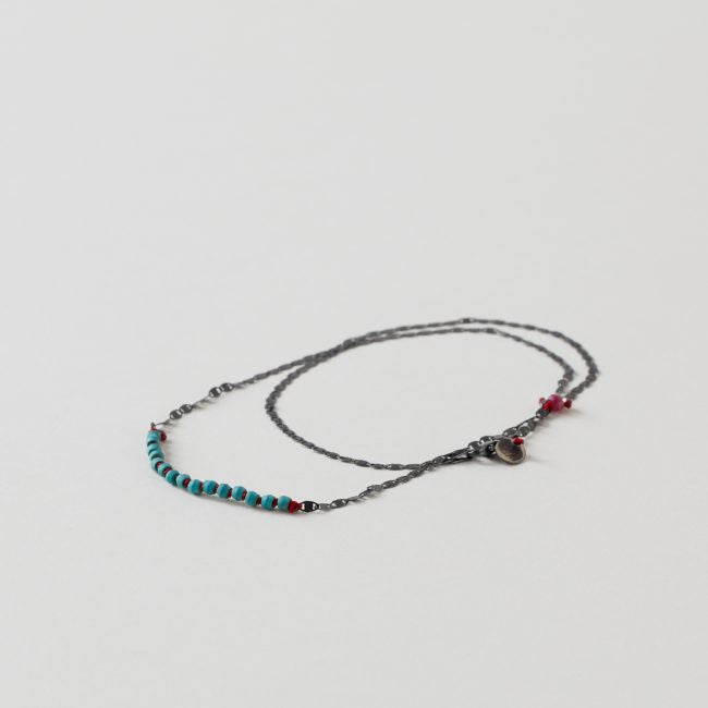 River Song Knotted Oxss Wrap Bracelet With Turquoise Detail
