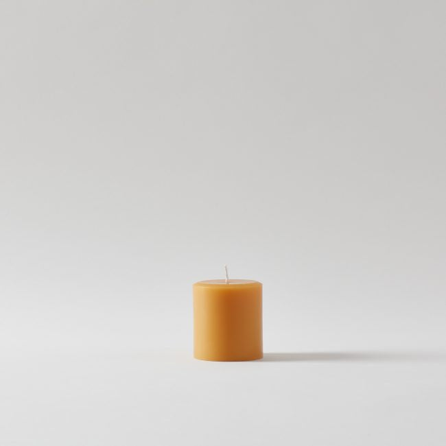 Round Pillar Beeswax Candle
