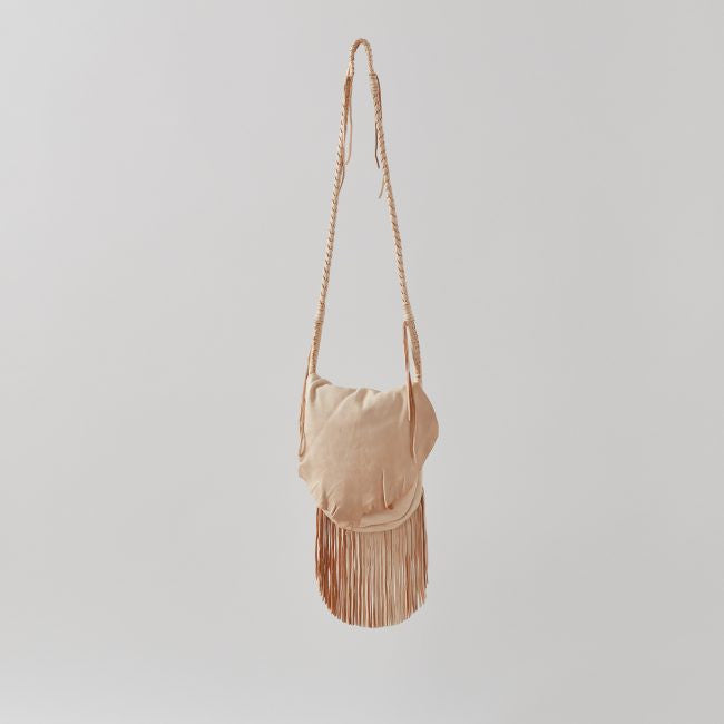 Three Arrows Leather Palomino Fringe Bag